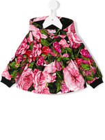 Dolce & Gabbana rose print jacket - kids - Cotton/Spandex/Elastane - 12-18 mth