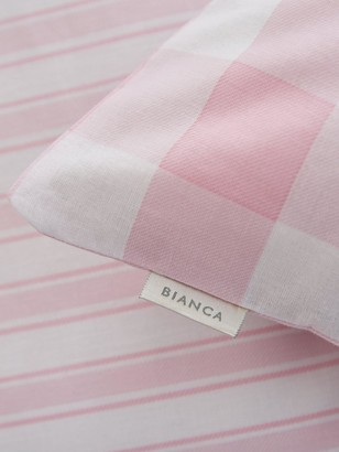 Bianca Cottonsoft Bianca Pink Check Cotton Fitted Sheet