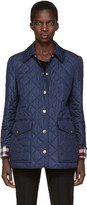 Burberry Navy Quilted West Bridge Jacket