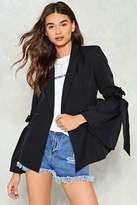 Nasty Gal nastygal Tie and Love Again Button-Up Blazer