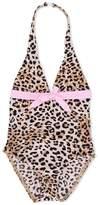 Elizabeth Hurley Beach Kids leopard print swimsuit