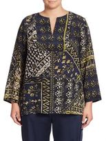 Lafayette 148 New York, Plus Size Adeline Silk Printed Blouse