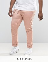 Asos Plus Skinny Chinos In Pink