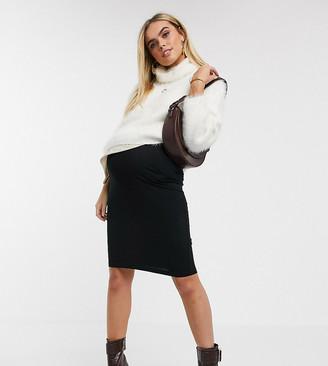 Asos DESIGN Maternity petite jersey pencil skirt-Black