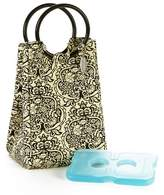 Fit & Fresh Retro Insulated Lunch Bag with Reusable Ice Pack - Black/White Damask