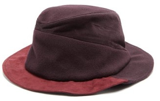 House Of Lafayette - Angele Panelled Wool-felt Fedora - Burgundy