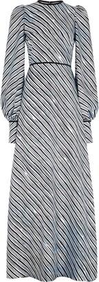 Fendi x Joshua Vides stripe print flared dress