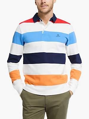 Gant Stripe Rugby Polo Shirt, Eggshell
