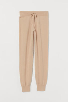 H&M Fine-knit Cashmere Joggers - Orange