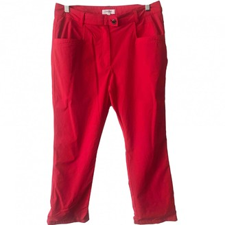 Calvin Klein Red Polyester Trousers