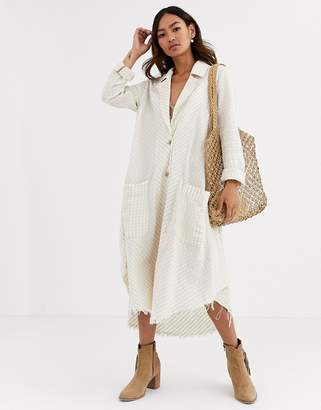 Free People Lets Just Cruise duster jacket-White