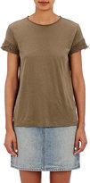 Helmut Lang Women's Rolled-Edge T-Shirt-DARK GREEN