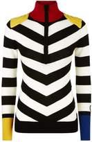 Rossignol Striped Half-Zip Sweater, White, XS