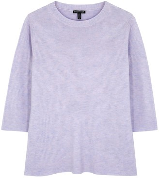 Eileen Fisher Lilac Ribbed-knit Jumper