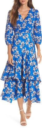 Brinker & Eliza Faux Wrap Maxi Dress