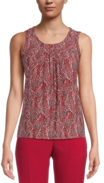 Kasper Printed Sleeveless Top