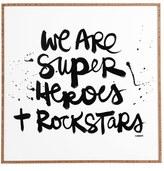 DENY Designs 'Kal Barteski - We Are Superheroes & Rock Stars ' Wall Art