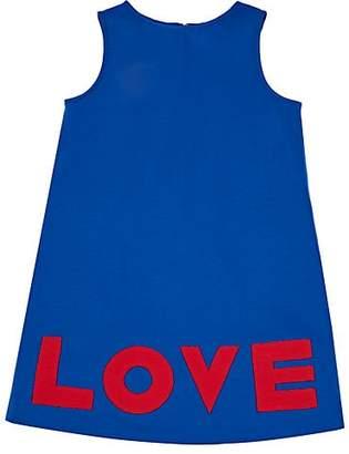 "Lisa Perry Kids' ""Love"" Ponte-Knit Dress - Blue"