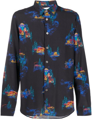 Paul Smith Buttoned Forest Print Shirt