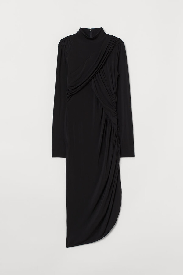 Thumbnail for your product : H&M Draped Dress - Black