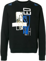 Les Hommes embroidered graphic print sweatshirt