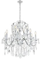 Thao 12-Light Candle Style Tiered Chandelier Rosdorf Park Finish: Chrome, Crystal: Royal Cut