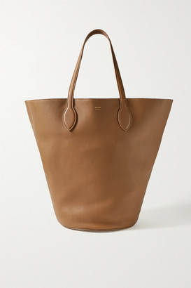KHAITE Circle Medium Leather Tote - Light brown