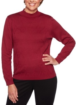 Alfred Dunner Classics Mock-Neck Sweater