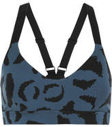 The Upside Dance Printed Stretch Sports Bra - Navy