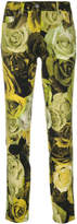 Moschino high-waisted floral trousers