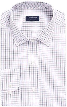 Club Room Men Classic/Regular-Fit Wrinkle-Resistant Tattersall Plaid Dress Shirt