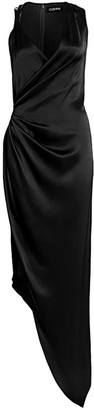 Cushnie Draped Silk Gown
