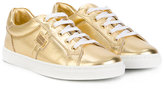 Dolce & Gabbana lace-up sneakers - kids - Leather/rubber - 29