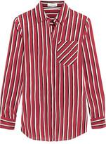 Altuzarra Striped Silk Crepe De Chine Shirt - Claret