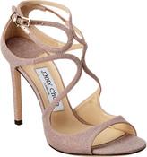 Jimmy Choo Lang 100 Glitter Leather Sandal