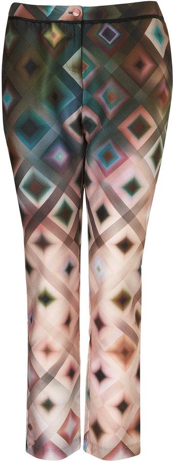 Topshop Ombre Geo Print Cigarette Trousers