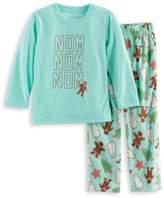Toddler Boy Jammies For Your Families Holiday Cookies Top & Fleece Bottoms Pajama Set