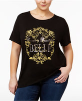 Disney Beauty and the Beast Trendy Plus Size Cotton Belle Graphic T-Shirt