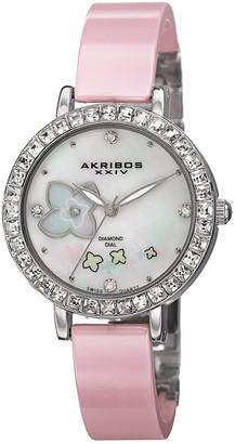 Akribos XXIV Women's Ceramic & Diamond Watch