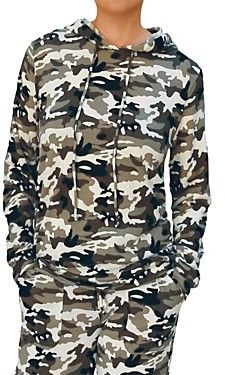 BILLY T Chill With Me Camo Sweatshirt