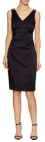 Nicole Miller V-Neck Tuck Sheath Dress