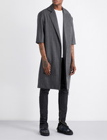 Fear Of God Fifth collection pinstripe wool overcoat
