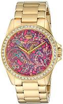 Juicy Couture Women's Laguna Quartz Tone and Gold-Plated Casual Watch(Model: 1901424)