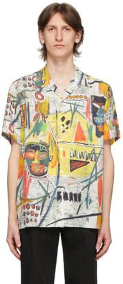 Wacko Maria Multicolor Jean-Michel Basquiat Edition Short Sleeve Shirt