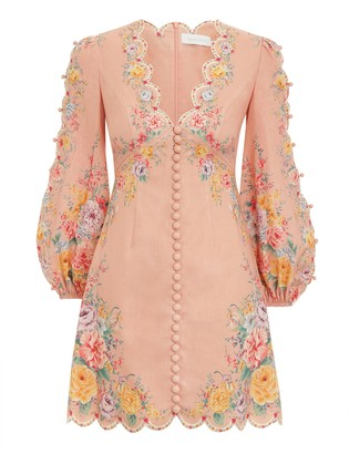 Zimmermann Zinnia Scallop Mini Dress