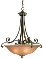 Dolan Five Light Bronze Up Pendant