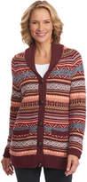 Woolrich Women's Blazing Star Long Fair Cardigan Sweater - Fig Multi Sweaters