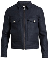 Ami Zip-through Point-collar Wool-blend Jacket
