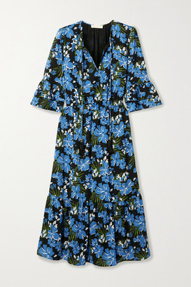 MICHAEL Michael Kors Floral-print Crepe Midi Dress - Blue