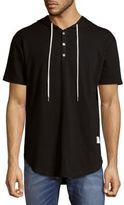 Kinetix Short-Sleeve Hoodie Top